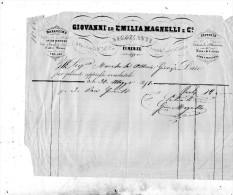 1858   FIRENZE GIOVANNI  ED EMILIA MAGNELLI NEGOZIANTI  SCARPE FAZZOLETTI COLLETTI - Italia