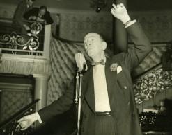 Noel Coward Londres Café De Paris Cabaret Repetition Ancienne Photo De Presse 1951 - Famous People