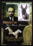 SPAIN ESPAGNE 2014. SOUVENIR SHEET. NOBEL PRIZE WRITER JUAN RAMON JIMENEZ.  PLATERO Y YO - 2011-... Nuevos & Fijasellos