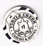 Turtle Creek Casino & Hotel Michigan $1 Gaming Chip - Casino