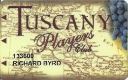 Tuscany Casino Las Vegas Slot Card - Cpi 2025454 On Reverse - Casino Cards