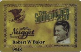 Jim Kelley´s Nugget Lake Tahoe NV - 2nd Issue DARK Greenish Mustard Slot Card  (Printed) - Casino Cards