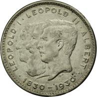 Monnaie, Belgique, 10 Francs-10 Frank, Deux / Twee Belgas, 1930, TTB, Nickel - 10. 10 Francs & 2 Belgas