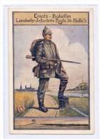 0-4000 HALLE / Saale, Ersatz-Bataillon Landwehr Infanterie Regiment 36, 1916 - Halle (Saale)