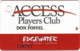 Edgewater Casino Laughlin NV Players Club Slot Card - No Web Address (Printed) - Casino Cards