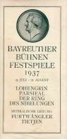 BAYREUTH, BAYREUTHER BUHNEN FESTSPIELE 1937, DIM. 11,4X23,1 CM - Werbung