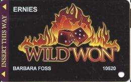 Wild Won Casino Slot Card Used At Ernie's Lounge In Las Vegas - Casino Cards