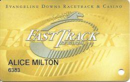 Evangeline Downs Opelousas LA FastTrack Rewards Slot Card - Black Horse In Logo On Back - Casino Cards