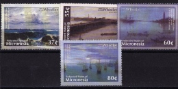 Micronesia, (Sc # 559-62), MNH, (Set Of 4) Whistler Paintings  2010 - Micronésie