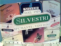 VINO VINI CASTELLI ROMANI SPUMANTI SILVESTRI LANUVIO  ROMA  N1995  FH9086 - Reclame
