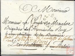 France 1789 - Lettre D´ Haïti Pour Bethune - Marque Entrée Maritime - BORDX. COL.en Cercle -  Déboursé De Béthune - Marcophilie (Lettres)