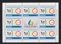 100 Ani De Olimpism In Romania - Blocks & Kleinbögen