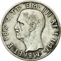 Monnaie, Albania, Vittorio Emanuele III, 5 Lek, 1939, Rome, TTB+, Argent, KM:33 - Albanie