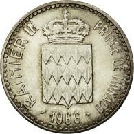Monnaie, Monaco, Rainier III, 10 Francs, 1966, SUP+, Argent, Gadoury:155 - Monaco