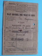 Chemin De Fer D'ALSACE Et De LORRAINE ** Anno 1928 ** Billet INDIVIDUEL Pour Voyage En GROUPE ( Bayonne ) Zie Foto´s ! - Titres De Transport