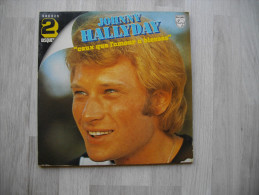 """Disque Vinyle 33 T JOHNNY HALLYDAY """"ceux Que L'amour A Blessés"""" Double Album - 6680291 - Rock"""