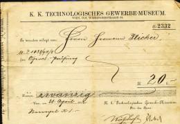 K.K.Technologisches Gewerbe-Museum  1912 - Austria