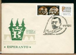 POLSKA - FDC - MORTODATREVENO ANTONI GRABOWSKI  Esperantista - Esperanto - Esperanto
