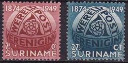 Suriname 1949 Wereldpostvereniging UPU Ongestempelde Serie NVPH 278 / 279 - Suriname ... - 1975