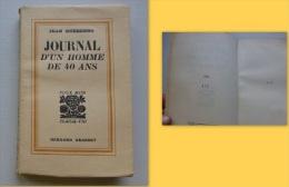 C1 Jean GUEHENNO - JOURNAL HOMME DE 40 ANS 1934 Edition Originale NUMEROTE ALFA - Livres, BD, Revues