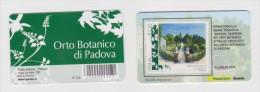 """2011 - ITALIA -  TESSERA FILATELICA  TEMATICA PARCHI GIARDINI ED ORTI BOTANICI """"ORTO BOTANICO DI PADOVA"""" - 6. 1946-.. Repubblica"""