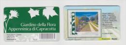 """2011 - ITALIA -  TESSERA FILATELICA TEMATICA PARCHI GIARDINI ED ORTI BOTANICI """"PADOVA"""" E """"CAPRACOTTA"""" - 6. 1946-.. Repubblica"""