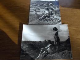 LOT DE 2 PHOTOGRAPHIES PIN UP NOIR ET BLANC ANNEES 1930 1940 ALSACE TRES BON ETAT - Pin-up