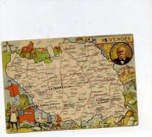 85 Contour Département VENDEE Carte Géographique LE BLONDEL - Francia