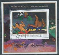 "MANAMA  Bloc ""Fatata Te Miti"" De GAUGUIN - Impressionisme"