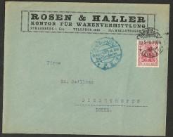 Lettre Commerciale   D´Allemagne (Germany) 1916C A De Strassburg à  Diedenhofen (Thionville) - Brieven En Documenten