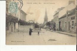 Vallon  03    La Route De Chazemais Tres Animée-La Poste-Café Et Epicerie-Au Fond L´Eglise - France