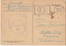 WWII Wehrmacht Feldpost Postcard Sent By Croatian Soldier From Austria 1942 Bb160125 - Militaria