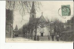 Larçais  37  L'Eglise (XIIe Et XIII Siecles) Et La Place Et La Rue Animées - France
