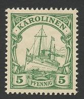 German Karolinen, 5 Pf. 1901, Sc # 8, Mi # 8, MH - Colony: Caroline Islands