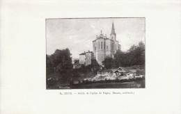 1901 - Iconographie Documentaire - Régny (Loire) - L'abside De L'église -  FRANCO DE PORT - Vieux Papiers