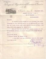SUISSE - GENEVE - FABRIQUE DE BIJOUTERIE ET D´EMAUX DE GENEVE - LETTRE + FACTURE - 1920 - Switzerland