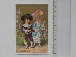 CHROMO Doré: Série COSTUME CHARLES 1er - Couple Enfants Amoureux - Parapluie & Ombrelle Rue St-Pierre à LYON - Autres
