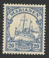 German Marianen, 20 Pf. 1901, Sc # 20, Mi # 10, MH - Colony: Mariana Islands