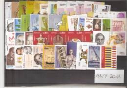 AÑO 2011 COMPLETO CON TODOS LOS SELLOS Y HOJAS BLOQUE Y CARNE NUEVOS-MINT - España