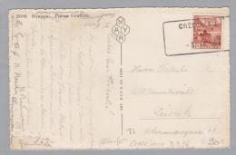 Heimat TI Cresciano 1946-04-03 Aushilfs-O Auf PK - Suisse