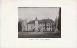 1901 - Iconographie Documentaire - Nandax (Loire) - Le Château De Ressins -  FRANCO DE PORT - Vieux Papiers