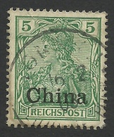 Germany, Offices In China, 5 Pf. 1901, Sc # 25, Mi # 16, Used - Offices: China