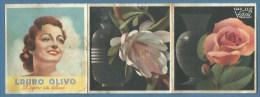 Calendario Pubblicitario : PROFUMI VIDAL VENEZIA 1940 - XVIII - SAPONE LAURO OLIVO - PETROLINA LONGEGA Arresta La Caduta - Formato Piccolo : 1921-40