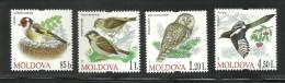 MOLDOVA, MOLDAVIE, 2010, Birds, Set 4 V Complete Set, MNH, (**) - Oiseaux
