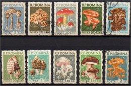 ROMANIA - ROUMANIE - 1958 - FUNGHI - YT 1580/1589 COMPLETA (°) USATI - 1948-.... Repúblicas