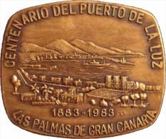 ESPAÑA. MEDALLA CENTENARIO DEL PUERTO DE LA LUZ 1.983. CON ESTUCHE ORIGINAL. ESPAGNE MEDAILLE. SPAIN MEDAL - Profesionales/De Sociedad