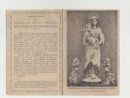 Santino Miracolosissima Madonna Delle Grotte Venerata In Antrodoco (Rieti) - 4 Facciate Con Inno E Preghiera - Virgen Mary & Madonnas