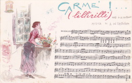 Italia Cartolina Musicale Bideri Nuova, Carme - Postcards