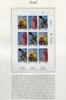 Im Heiligen Land Bäume 1981 Israel 868/0 TAB Als 9-Kleinbogen ** 5€ Eiche Erdbeere Judas-Baum Bf Flora Se-tenant Of Asia - Israel