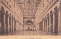 Italia 1911 Cartolina Usata, Roma Interno Della Basilica Di S.Pietro, Spedita In Australia - Postcards